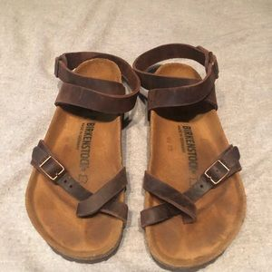 Birkenstock Yara mocha sandals - Size 37 (6-6.5)